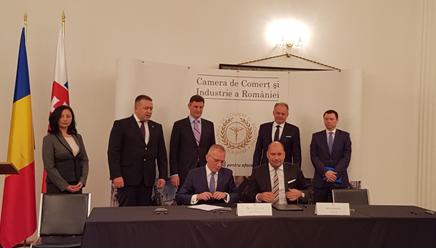 Podpis dohody rámcovej dohody o spolupráci medzi exportno-úverovými agentúrami Slovenska a Rumunska sa uskutočnil v rámci oficiálnej návštevy prezidenta Slovenskej republiky Andreja Kisku v Rumunsku