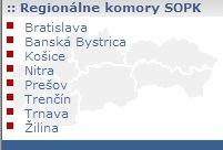 Regionálne komory SOPK